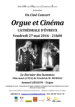 programme recto le dernier des hommes cathédrale évreux ciné concert orgue samuel liégeon