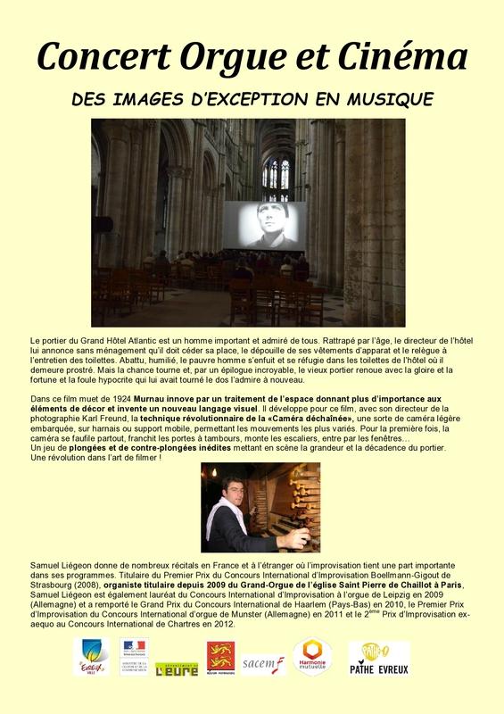 programme verso le dernier des hommes cathédrale évreux ciné concert orgue